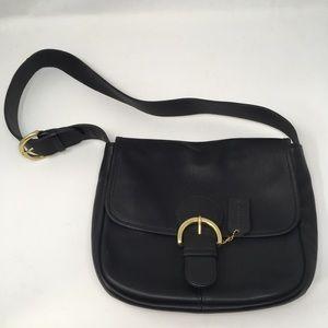 Coach Purse Bedford Flap Shoulder Bag Black 4164